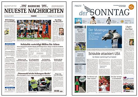 BNN Formatumstellung Zeitung