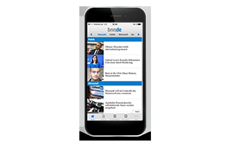 BNN App auf dem Smartphone, Tablet und PC