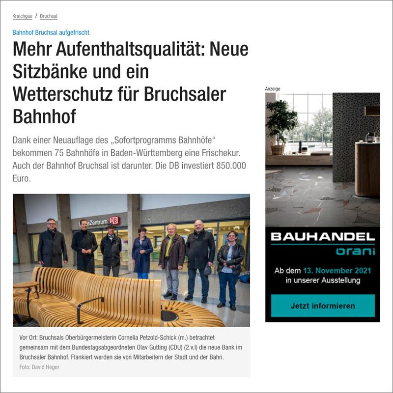 Beispiel Bannerwerbung / Display Advertising auf www.bnn.de