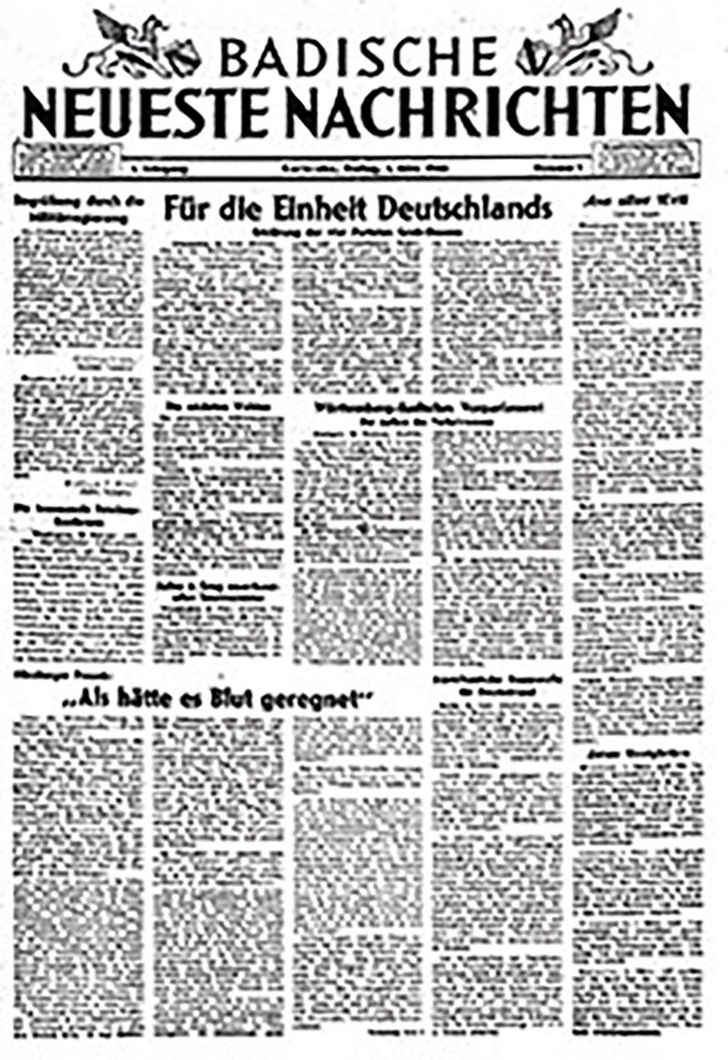 Die erste Ausgabe der BNN