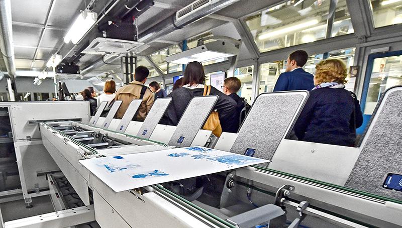 Betriebsführung bei den BNN im Druckzentrum