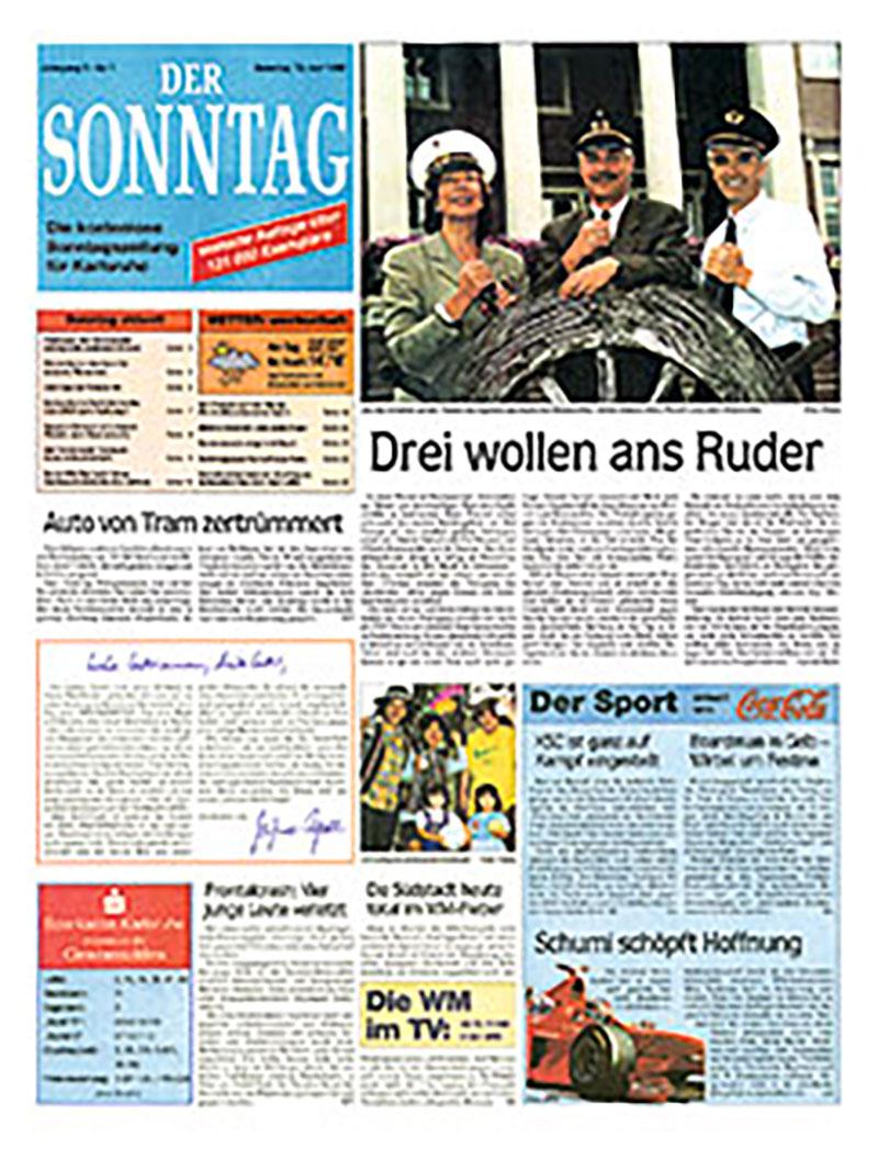Erste Ausgabe DER SONNTAG